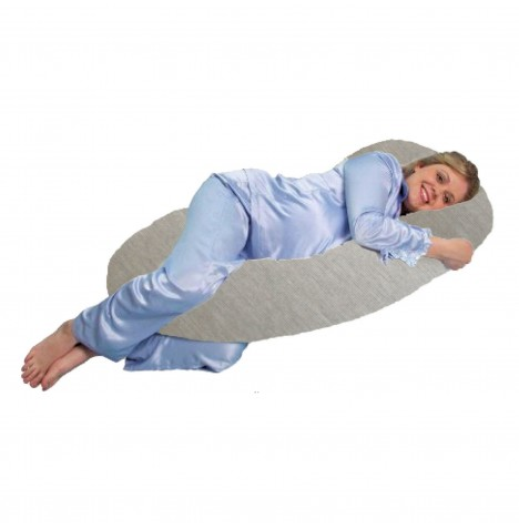 4baby 6ft Deluxe Body & Baby Support Pillow - Pebble Grey